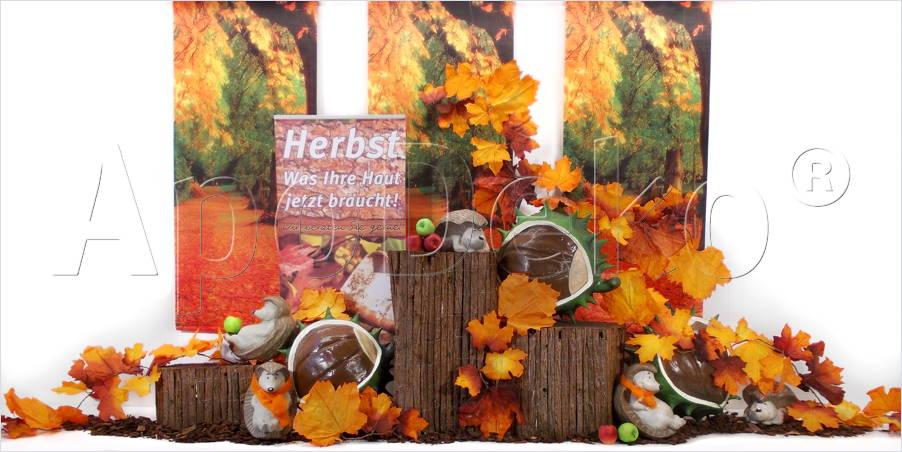 Dekorationen vor ort apodeko dekorationen werbung und for Schaufensterdekoration ideen