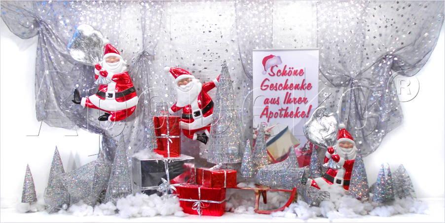 Dekorationen vor ort apodeko dekorationen werbung und design f r apotheken telefon 02 02 - Schaufensterdekoration weihnachten ...