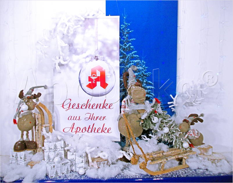 Dekorationen per versand apodeko dekorationen werbung und design f r apotheken telefon 02 - Schaufensterdekoration weihnachten ...